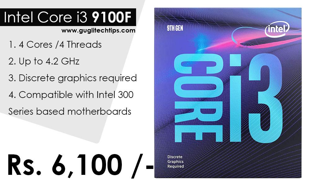Intel Core i3 9100F Processor