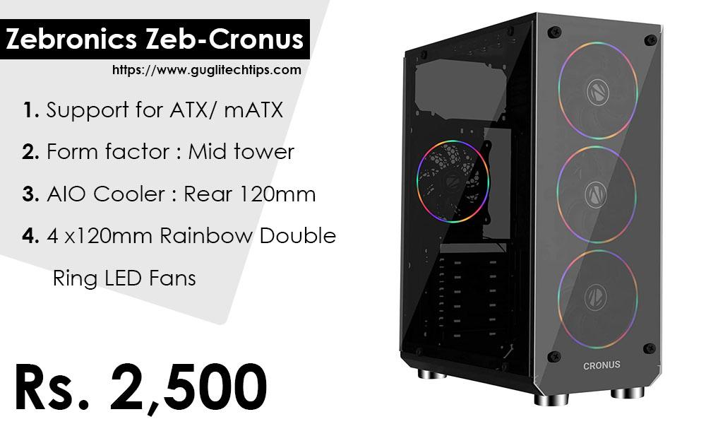 Zebronics Zeb-Cronus gaming pc build under 40000