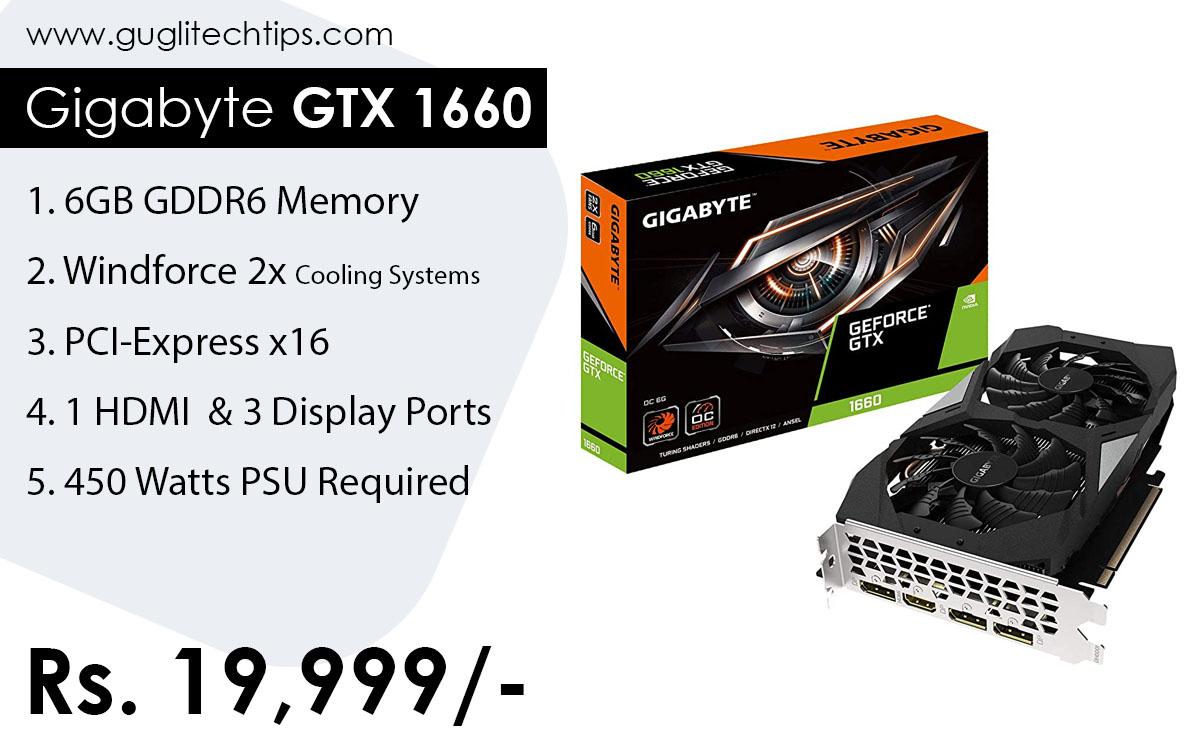 Gigabyte GeForce GTX 1660 Graphics Card